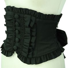 waist corset with ruffles