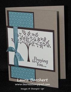 For You Praying For You! Thoughts & Prayers Stampin' Up Stamp Set, Lost Lagoon Taffeta Ribbon, Flower Pot Designer Series Paper Praying For You! Thoughts & Prayers Stampin' Up Stamp Set, Lost Lagoon Taffeta Ribbon, Flower Pot Designer Series Paper Making Greeting Cards, Homemade Greeting Cards, Greeting Cards Handmade, Homemade Cards, Making Cards, Cricut Cards, Prayer Cards, Stamping Up Cards, Get Well Cards