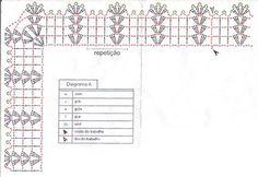 Cantinho da Pati Asai: Gráfico barrado de crochê de canto