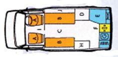 VW T4 Autosleeper Clubman GL Layout. Good info site.