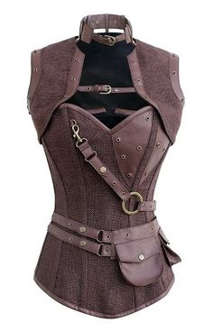I found 'Bespoke Steampunk Overbust Tweed Corset By Corset Deal' on Wish, check it out!