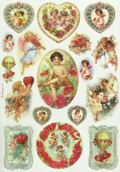Ricepaper / Decoupage paper, Scrapbooking Sheets Angels and Hearts in Crafts, Cardmaking & Scrapbooking, Decoupage | eBay
