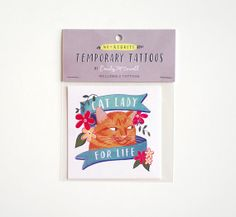 Cat Temporary Tattoo Cat Lady for Life @Stacia Guarisco this made me think of Anna :)