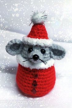 PDF Мастер-класс мышонок Санта Always wanted to discover how to knit, yet uncertain the place to start? That Overall Beginner Knitting Sequence is exac. Crochet Christmas Decorations, Crochet Ornaments, Christmas Crochet Patterns, Holiday Crochet, Christmas Knitting, Crochet Patterns Amigurumi, Crochet Dolls, Christmas Crafts, Crochet Diy
