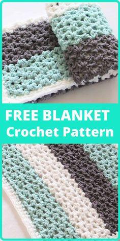 Bernat Blanket Patterns, Crochet Baby Blanket Free Pattern, Baby Afghan Crochet, Crochet Baby Booties, Afghan Crochet Patterns, Crochet Hats, Baby Afghans, Crochet Throws, Dishcloth Crochet