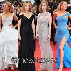Mosokawas - Fashion Reviews Four Ladies Mosokawas Look: Best Dressed Red Carpet Cannes 2016! Photos: 1- Blake Lively wearing @viviennewestwoodofficial; 2- Julia Roberts wearing @armani; 3- Jessica Chastain wearing @worldmcqueen; 4- Blake Lively wearing @versace_official #mosokawas #lookdodia #lookoftheday #moda #estilo #style #insta #fashion #pinterest #cannes2016 #cannes #redcarpet #blakelively #versace #juliaroberts #armani #jessicachastain #mcqueen #alexandermcqueen #viviennewestwood