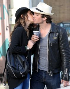Nikki Reed and Ian Somerhalder's PDA on Coffee Date | POPSUGAR Celebrity