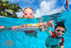 Kids in swimming pool. Above and underwater photo of kids swimming in pool , Pool Party Cakes, Pool Party Kids, Kid Pool, Children Swimming Pool, Swimming Pools, Underwater Swimming, Pool Maintenance Cost, Pool Party Invitations, Holiday Pictures
