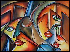 Abstracte gezichten II
