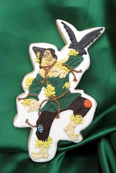 Scarecrow Wizard of Oz Decorated Cookie