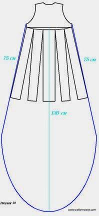 yo elijo coser: Paso a paso de modificación de patrón: vestido asimétrico Pinned by @Manaro Design  Jewelry | Beading | Bracelet | Necklace | Earrings
