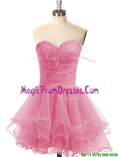 e8d52863d96 Buy casual lace up organza short prom dress with beading from casual prom  dresses collection