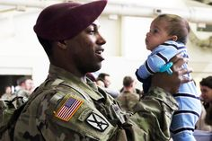 April is the Month of the Military Child. We celebrate the resiliency of these children! Families and friends reunite with Paratroopers from 1st Brigade Combat Team, 82nd Airborne Division, Mar. 19th at Pope Army Airfield on Fort Bragg, N.C. (U.S. Army/Sarah Goss)