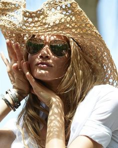 Country girl chic. #sunglasses