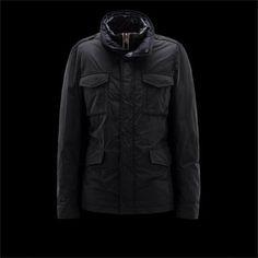 manteau Doudoune Moncler Homme Hector Noir pas cher