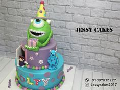 Monster inc cake by Yasmin Amr