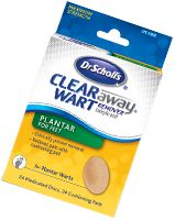 Plantar Wart Removal & Treatment for Feet | Dr. Scholl's®. Dr. Scholl's® Clear Away® Wart Removers use salicylic acid to safely and effectively remove warts* Flexible and discreet cover-up disc hides the wart treatment process The salicylic acid works by softening and destroying the wart tissue, prompting it to loosen and fall off Cushioning pad relieves pain Covering the wart helps to prevent the spread of the wart virus