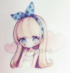 (・□・;)tired...grumpy...bleh. #sakurakoi #watercolor #watercolour #sketch #chibi