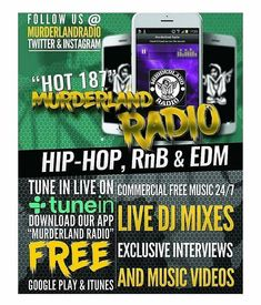 "Make sure to tune into Hot 187 @murderlandradio TONIGHT from 9pm-10pm Music by DJ CO  #Thursdays  Download the ""FREE"" Murderland Radio  app @applestore @GooglePlay  #localsaredope #supportyourlocals #motivation #HipHop #randb #motivated #musicislife #happyhour #musicislove #radio #radiostation #goodmusic #vibes #Maryland #Baltimore #bemore #dc #Philly #dmv #dmvdjs #femaledjs #worldwide #followthedj #newjersey #djs #Virginia #Newyork #atlanta"