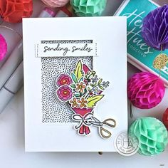 Papyrus Charm Flower Cluster Handmade Wonderful MOM Mother/'s Day Amazing Card