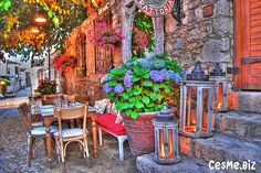 Wish i was having tea in Alacati, Cesme.  Such a great place!
