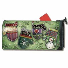 MailWraps Holiday Mittens Magnetic Mailbox Cover