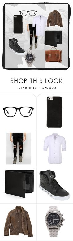 """""""Untitled #171"""" by i-luv-videogames on Polyvore featuring Ace, Polo Ralph Lauren, Dark Future, Stone Rose, Perry Ellis, Supra, Timberland, Breitling, The Cambridge Satchel Company and men's fashion"""