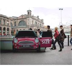 Making use of visual tricks with this subway entrance mini cooper ad.  Brought to you  by Shoplet Promos- Everything for your business. www.shopletpromos.com