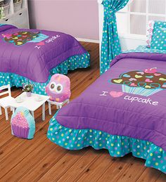 Vianney® Twin Girl Bedrooms, Girls Bedroom, Bedroom Bed, Bedroom Decor, Purple Bedding Sets, Princess Room, Bedroom Layouts, Little Girl Rooms, Trendy Bedroom