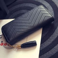 New Fashion Women Soft Rectangle Synthetic Leather Solid Clutch Wallets