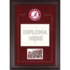 alabama crimson tide fanatics authentic deluxe 85 x 11 diploma frame with team logo insert your own 4 x 6 photograph