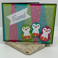 Let It Snow, Let It Be, Tropical Colors, Punch Out, Happy Thursday, Penguins, Stampin Up, Card Stock, Christmas Cards