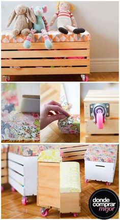 1000 images about reciclado on pinterest mesas home - Cajas de madera recicladas ...