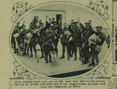 Victims of the Rhineland Evacuation: Soldiers' Dogs (airedale) That Must Spend Six Months in Quarantine. London News -October 05, 1929