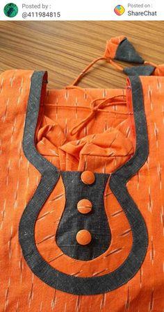 Chudithar Neck Designs, Neck Designs For Suits, Neckline Designs, Blouse Neck Designs, Sleeve Designs, Salwar Neck Patterns, Salwar Neck Designs, Churidar Designs, Plain Kurti Designs