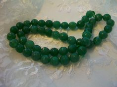 Green Round Faceted Agate Onyx Gemstone Beads  by TheEiffelTeaRoom