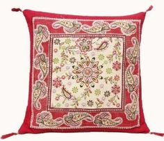 1 Piece Red Cotton Cushion Cover Paisley Printed Traditional Pillow Case Cover India New :     Price: $21.99    .        Traditional paisley print cotton fabric red and off white color cushion cover/pillow cover with bids of light green color. It has a soft layer of form inside the cushion cover . This is designed to highlight any corner of your room . It represents a true colors of Indian c...Check Price >> http://gethotprice.com/appin/?t=B008KVR8QU