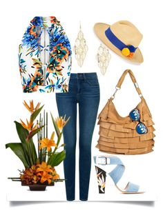 """""""Variation on Summer #1"""" by easy-dressing ❤ liked on Polyvore featuring Yves Saint Laurent, NYDJ, New Look, Prymal, Matthew Williamson and Fendi"""