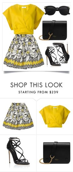 """Yellow"" by chanlee-luv ❤ liked on Polyvore featuring Alice + Olivia, Jil Sander, Dolce&Gabbana and Mulberry"