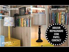 Decore Sem Frescuras: ABAJUR REPAGINADO COM PAPEL CONTACT   Organize sem...