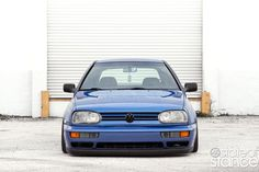 Blue VW Golf MK3 by State of Stance