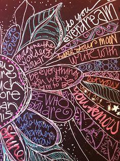 Flower doodle - teenagers room? on chalkboard paint?