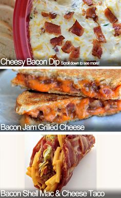 Everyone loves cheese and wine. Beer and cheese also make for a surprising, and usually better, combination. But nothing compares to the combined power of cheese and bacon. These recipes will satiate your hedonistic cheesy bacon desires for quite some time. http://www.cheeserank.com/culture/recipes-that-prove-you-need-more-bacon-and-cheese-in-your-life/