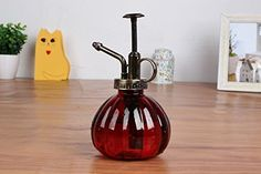 Bemodst 1 PC Colored Stripes Vintage Decorative Glass Watering Can Pot Pressure Sprayer for Plants Bonsai Flowers Gardening Tools Wine Red -- See this great product.(This is an Amazon affiliate link and I receive a commission for the sales)