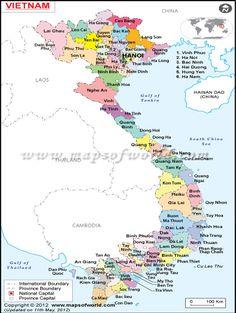 #Vietnam Map