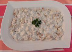 Yoğurtlu karnabahar ve patlıcan salatası