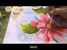 Pintura em Tecido para Iniciantes Flores e Folhas Parte II - YouTube