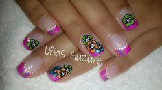 Esmaltado de uñas Flores Rosado Colores