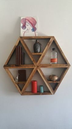 Hexagonal shelves by StraightFaced on Etsy
