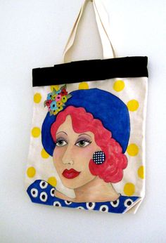 new...ESTELLE SUMMER TOTE hand painted by priscillamae on Etsy,